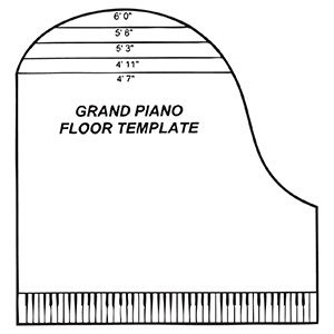 Piano fondant cake template google search music for What size is a grand piano