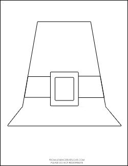 graphic relating to Printable Pilgrim Hat named We applied this pilgrim hat print out in direction of generate minor hats for