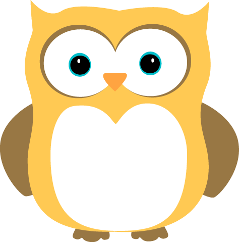 Yellow and Brown Owl | Owl images, Owl clip art, Clip art