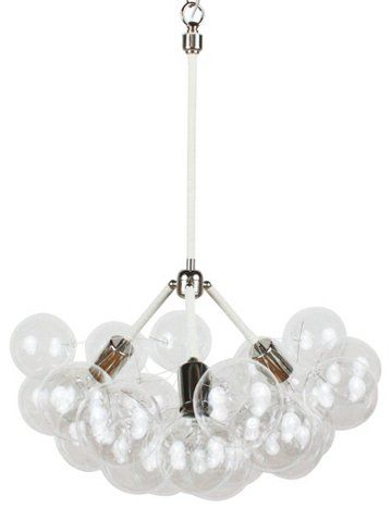 Three branch bubble chandelier white ceiling lights fans indoor and outdoor lighting