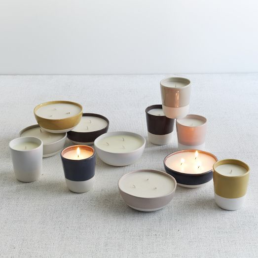 Poured into beautifully simple ceramic containers, our Pure Candle Collection burns clean and bright when grouped on tables, desks or mantels.