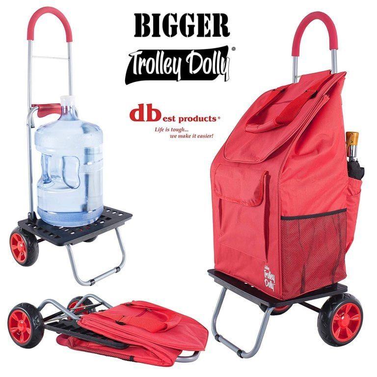 Bigger Trolley Foldable Shopping Cart Folding Shopping Cart Trolley Dolly Supermarket Trolley