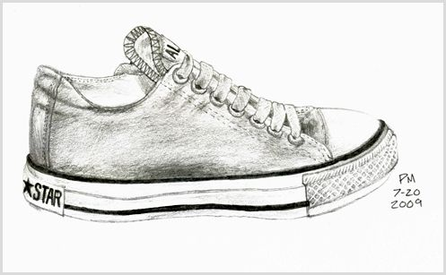 head on converse shoes drawing value stream