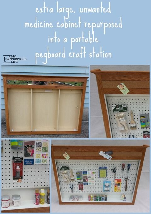 My Repurposed Life Medicine Cabinet Repurposed Into A Craft Station