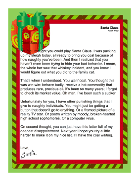 This funny free christmas printable is a letter from santa to a this funny free christmas printable is a letter from santa to a naughty adult spiritdancerdesigns Image collections