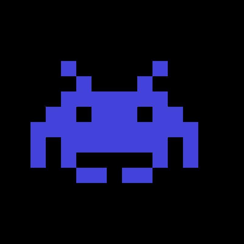 Blue Invaders Space Invaders Space Invaders Movie Video Game Logos