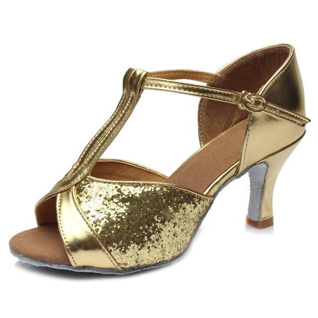 Ballroom heeled Salsa tango latin dance shoes children girls women multi colors