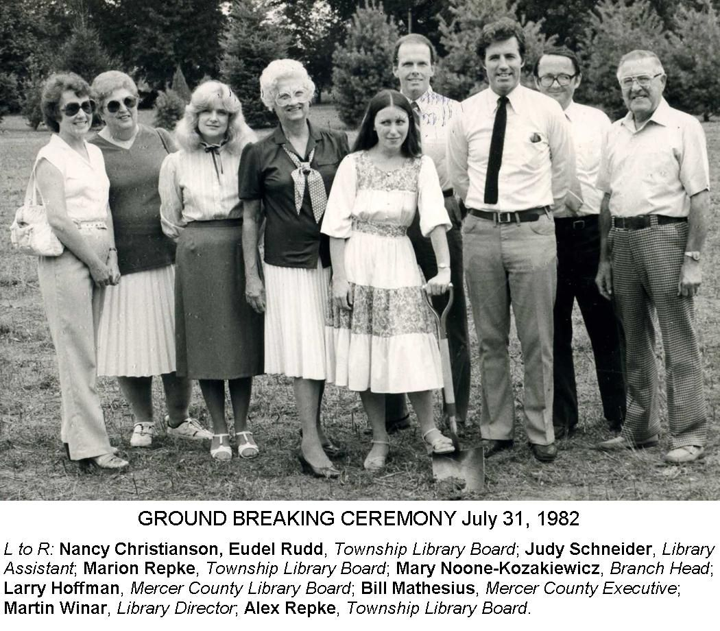 Ground breaking at the Robbinsville Branch, 1982. #TBT #mclsnj