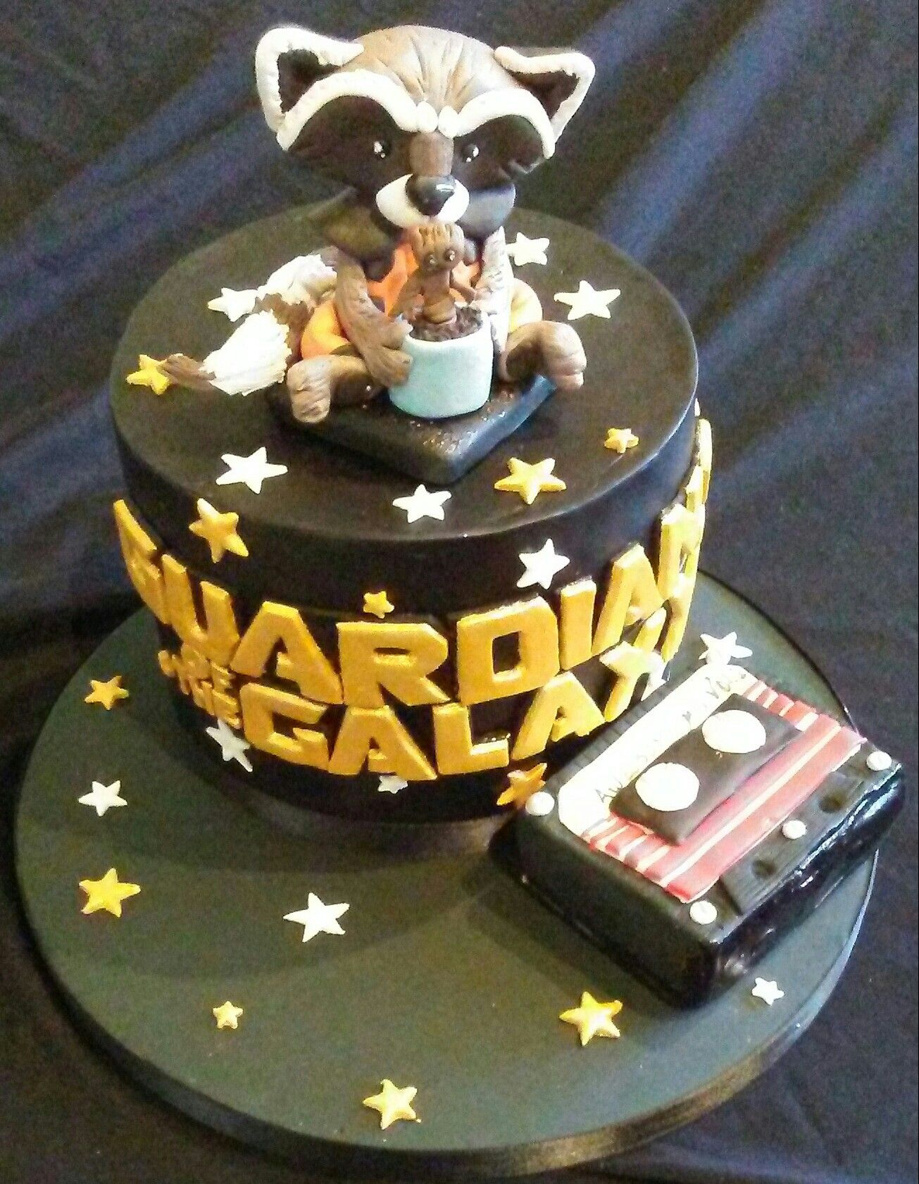 Guardians Of The Galaxy Cake I Made Rocket And Baby Groot