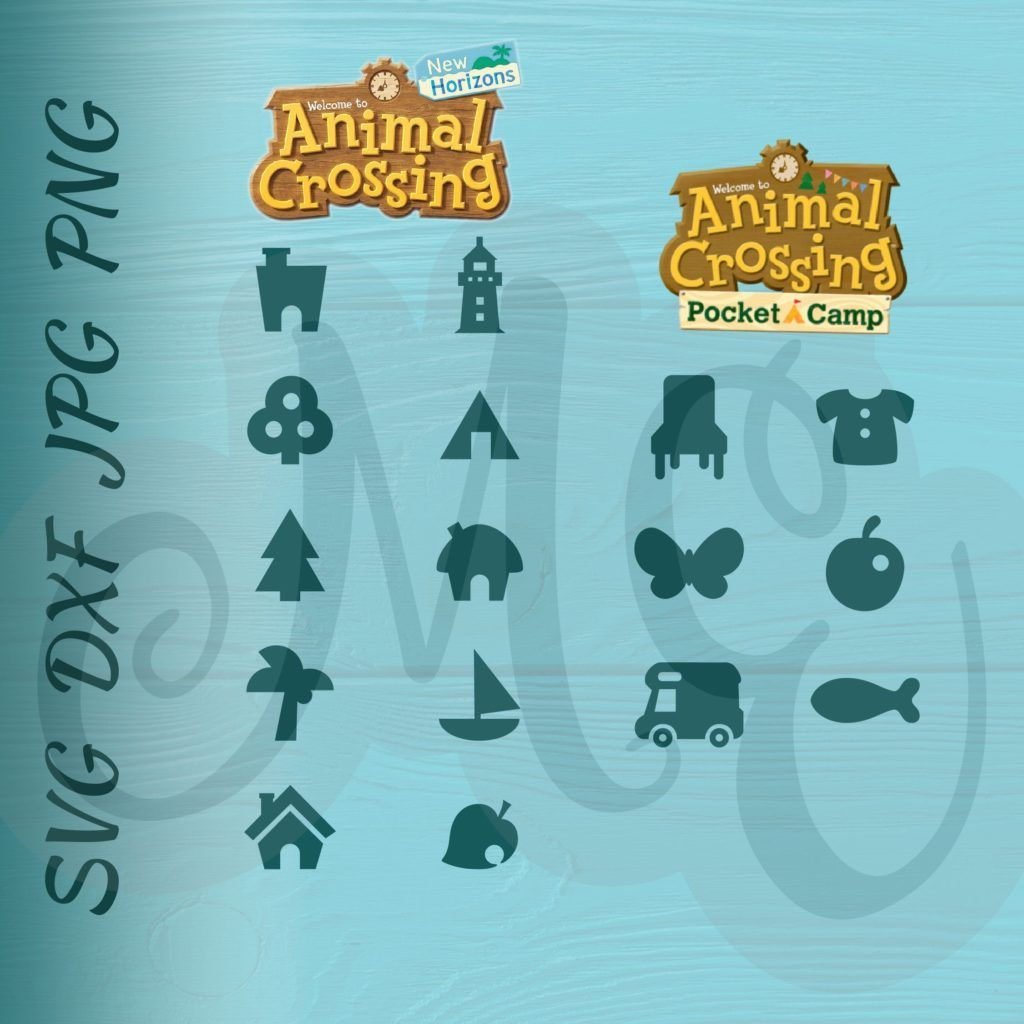 Animal Crossing New Horizons And Pocket Camp Icons Svg Clipart V