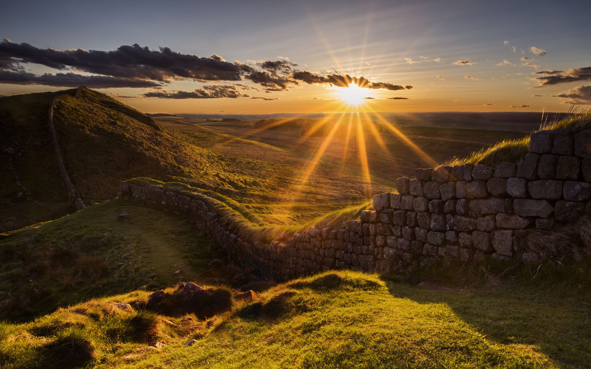 hadrian s wall sunset by nigel eve on 500px hadrians on hadrians wall id=17374