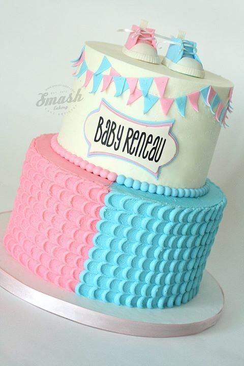 Smash Cakery Timeline Photos Gender Reveal Cake Baby Reveal Cakes Baby Gender Reveal Party