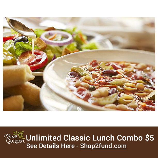 OliveGarden is offering their Unlimited Classic Lunch