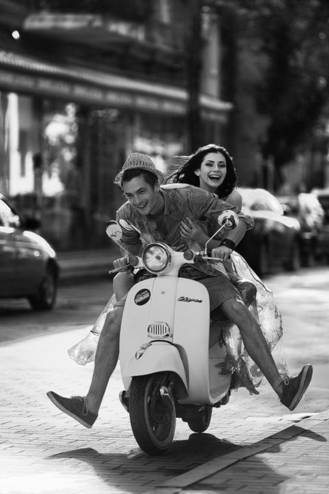 Vespa - magic! First Moto rideeeeeeee.... A real truefie, lovely couple in love www.truefie.com