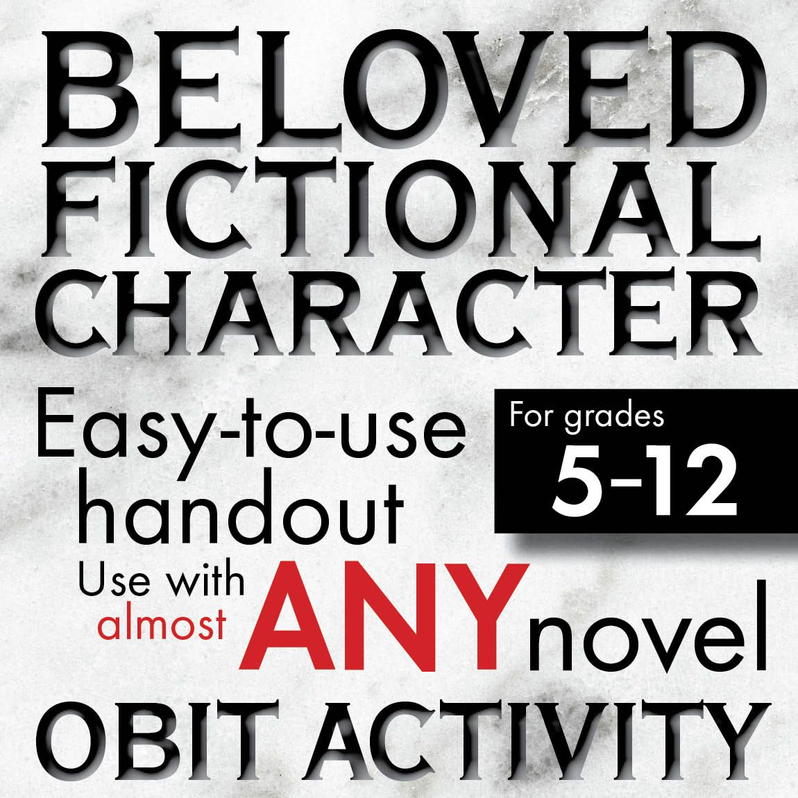 Character Obituary Writing Activity For Gr 5 12 Use W