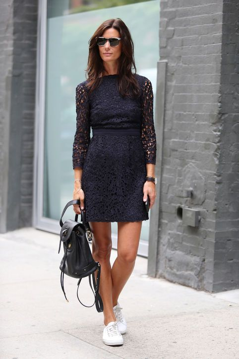 What to Wear on Valentine's Day: A lace dress, a la blogger Hedvig Opshaug