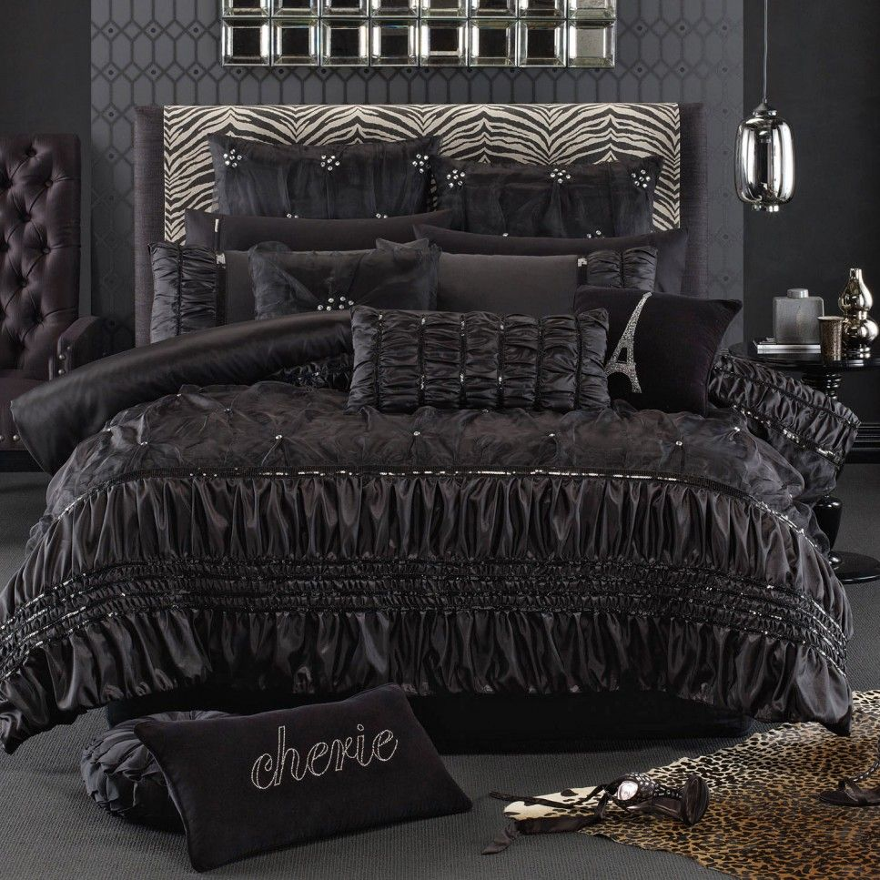 Bedroom Breathtaking Hollywood Glamour Bedding Sets Soprano Black And Modern Headboard Design Ideas Bed Linens Luxury Luxury Bedroom Sets Luxury Bedding Sets