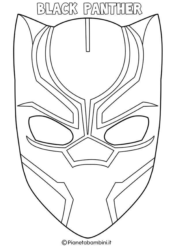 Maschere Di Supereroi Da Colorare Per Bambini Black Panther