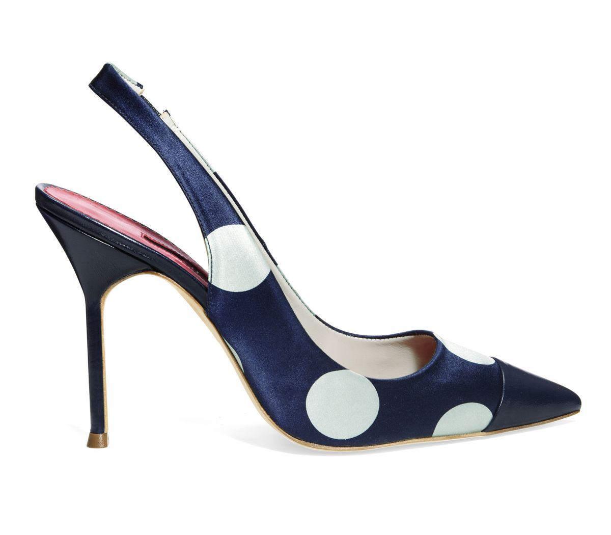 Carolina Herrera Polka Dot Slingback Pump - Love me my polka dot shoes!