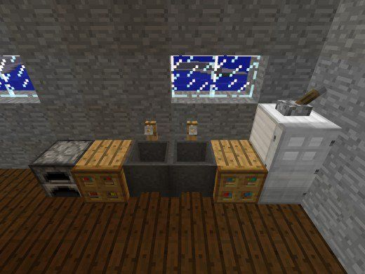 Christmas Decorations In Minecraft Pe : Using a furnace cauldrons with water and hidden chest