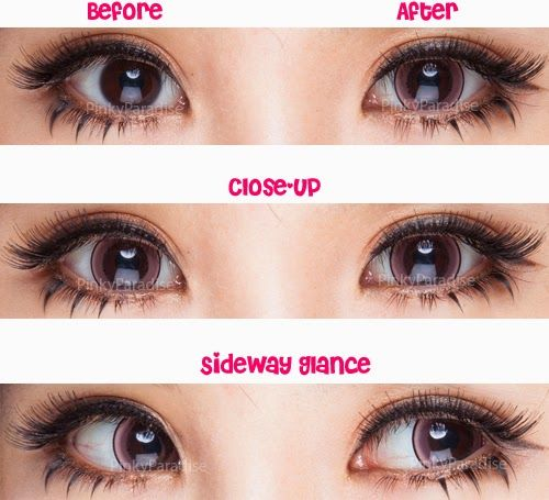 Princess Pinky Eclipse Pink Circle Lenses (Colored Contacts) - PinkyParadise - Contact lenses for brown eyes, Eye makeup, No eyeliner makeup - 웹