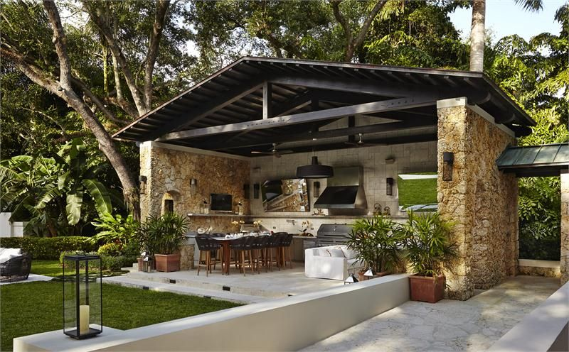Open Contemporary Outdoor Kitchen By Celia Domenech On