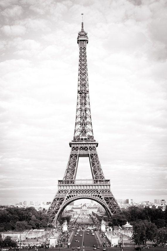 Paris Fine Art Photograph The Eiffel Tower Black