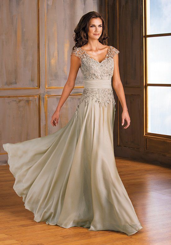 b75c36ee867 Tiffany chiffon mother of the bride dress with beautiful ruching on the  neckline and beading detail on the sash