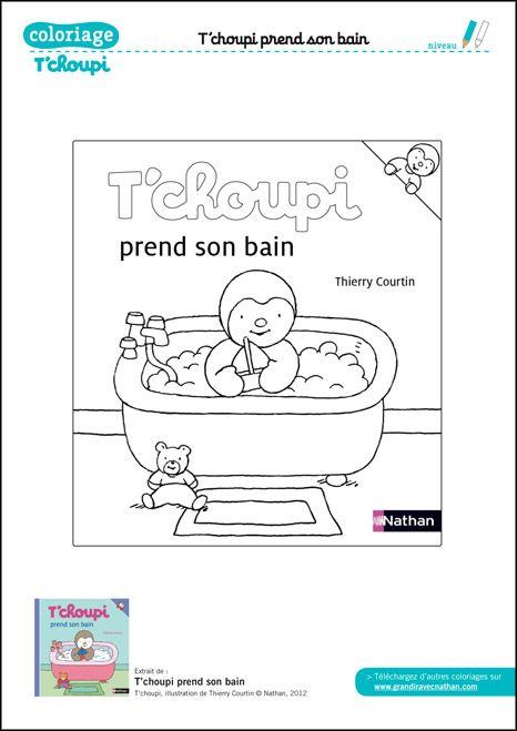 Coloriage Tchoupi Prend Son Bain Ddm Petite Section Comics Et