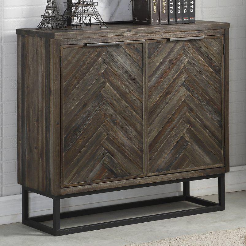 Kaelyn 2 Door Accent Cabinet Vintage Industrial Furniture Industrial Furniture Accent Cabinet