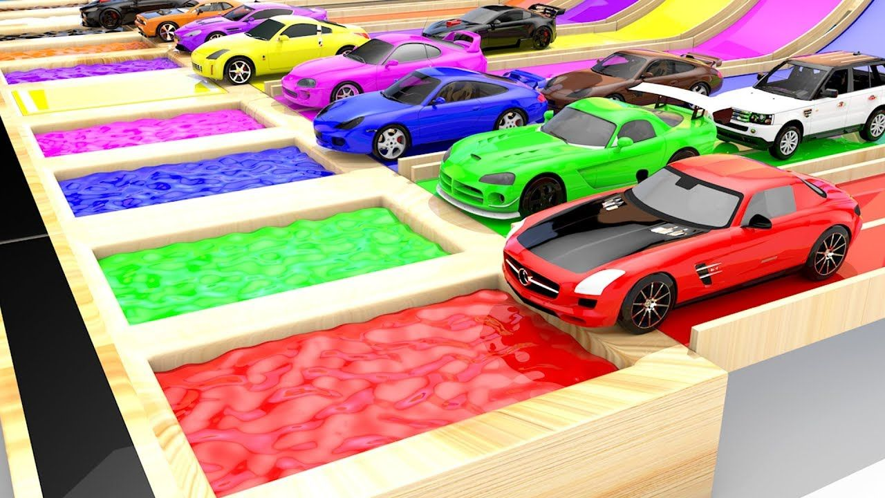 Colors for Children to Learn with Hot Wheels Sports Cars Flip ...