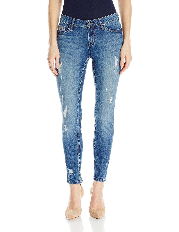 6f041062242 Calvin Klein Jeans Women's Ankle Skinny Ripped Jean, Ocean Destructed
