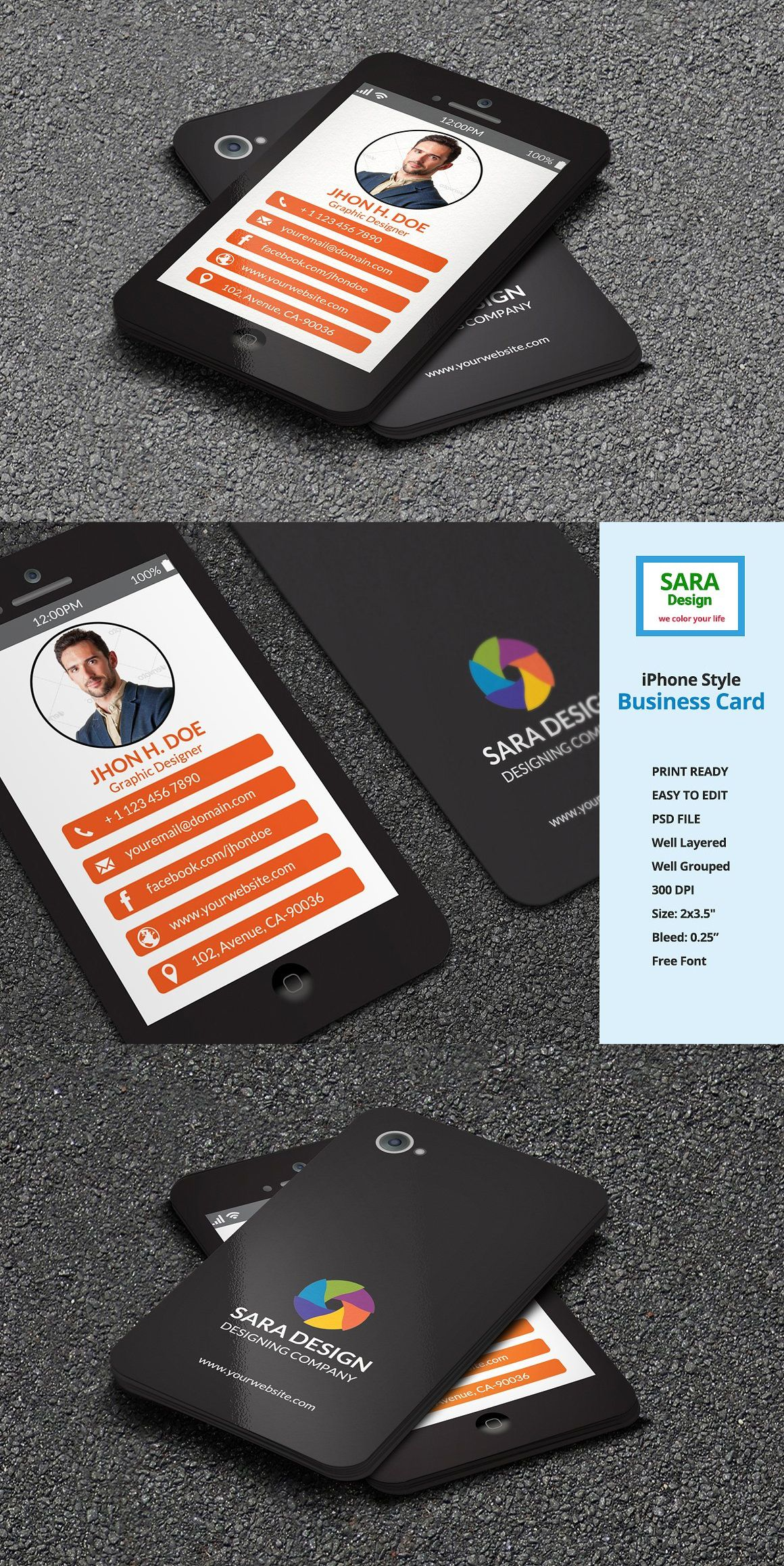 Iphone stylish business card templates psd business card templates iphone stylish business card templates psd reheart Image collections