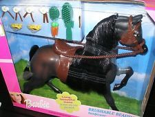 BARBIE Collector SUNFLOWER HORSE rare Brushable Beauties collection! NEW origBOX