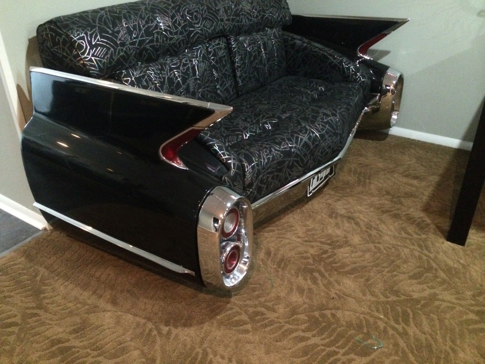 1961 Black Cadillac Car Couch Sofa Ebay The Real Steel