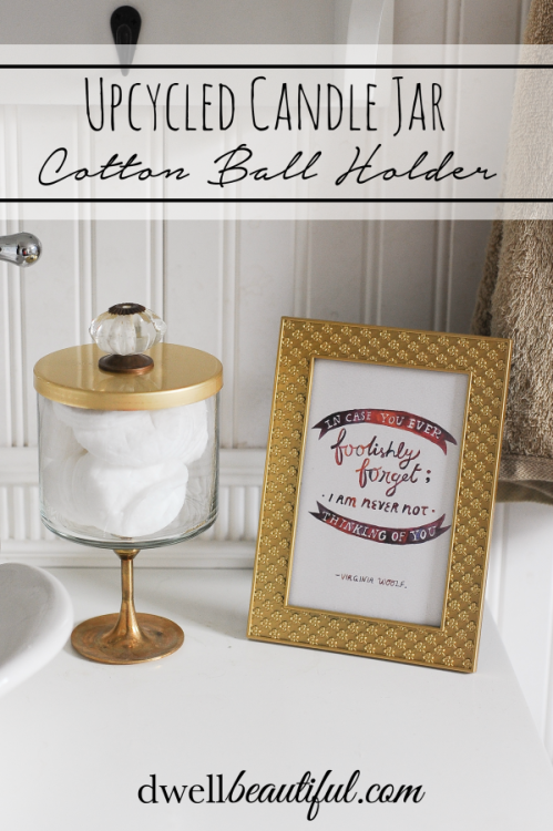 Etonnant Upcycle An Old Bath U0026 Bodyworks Candle Jar And Turn It Into Cute Bathroom  Storage As A Cotton Ball Holder!