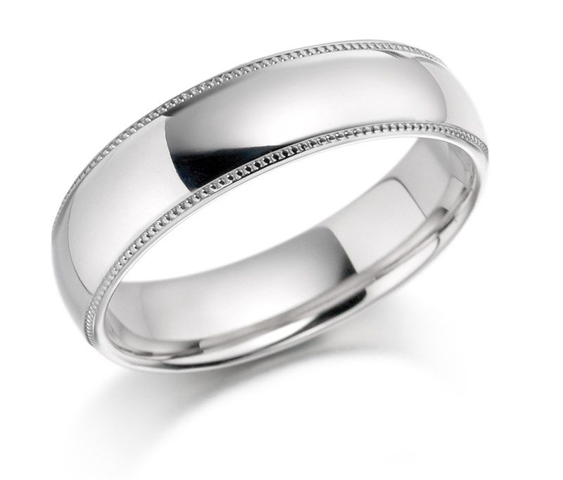 6mm D-Shape Heavy Weight Sterling Silver Wedding Band Ring In Sizes Complete With Gift Box Vj0gS