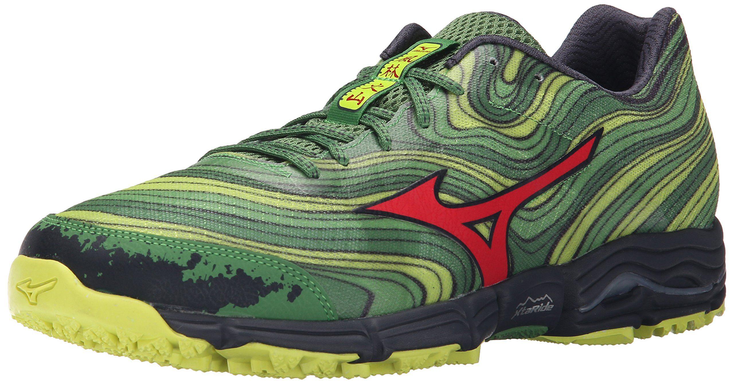 Mizuno Men's Wave Kazan Trail Running Shoe, MintChinese Red