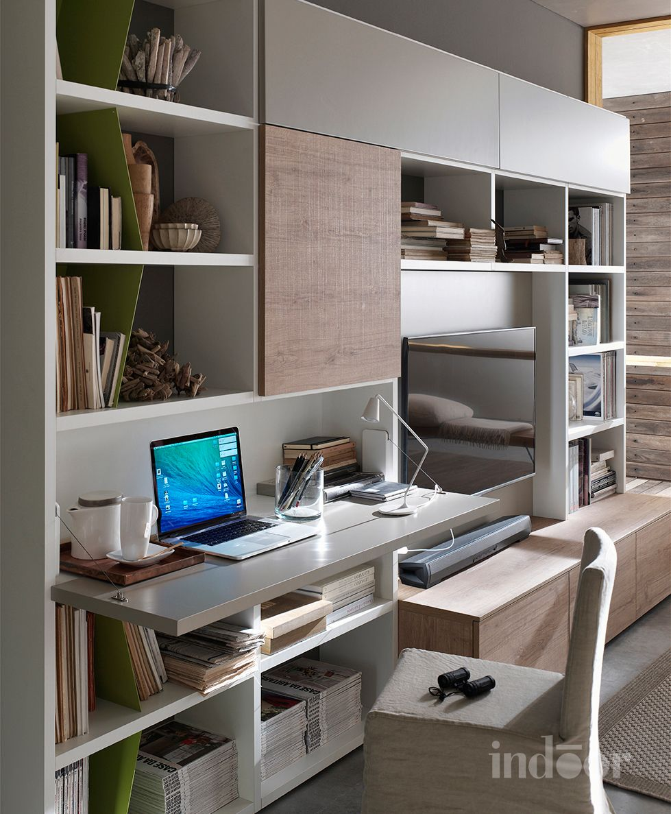 Home office with a built in desk seaholm independent for Barba arredamenti vico equense