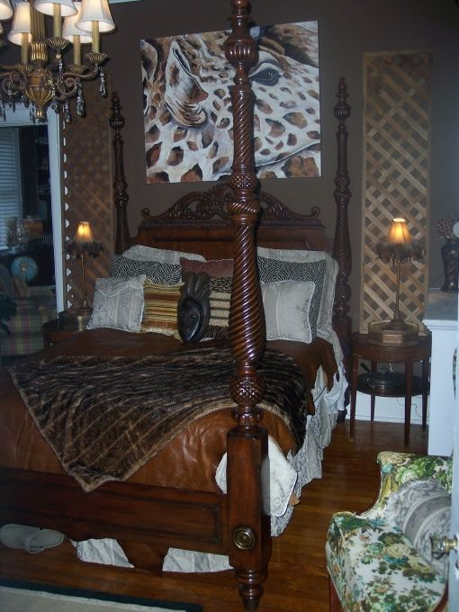 African Themed Bedroom Decorating Ideas Eclectic African