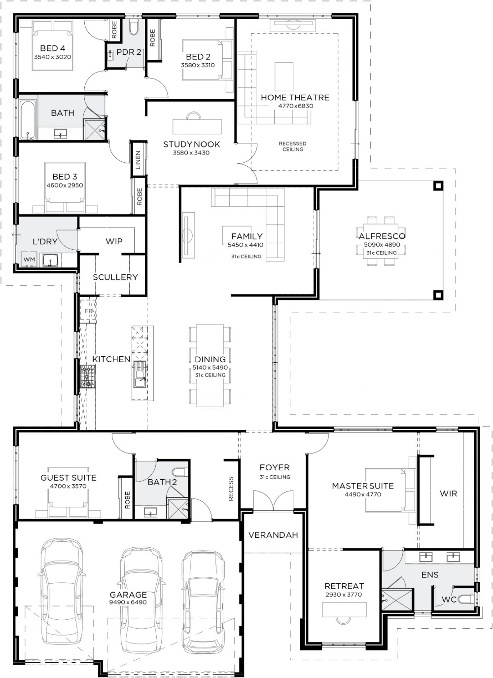 Giorgio Gemmill Homes My House Plans House Floor Plans New House Plans