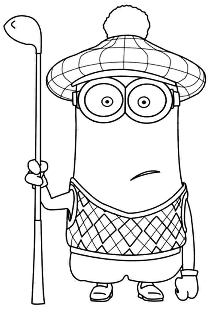 coloring pages minions angen - photo#13