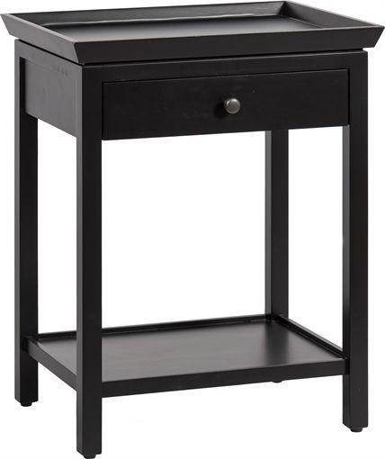 Neptune Aldwych Side Table Warm Black Bedside Furniture