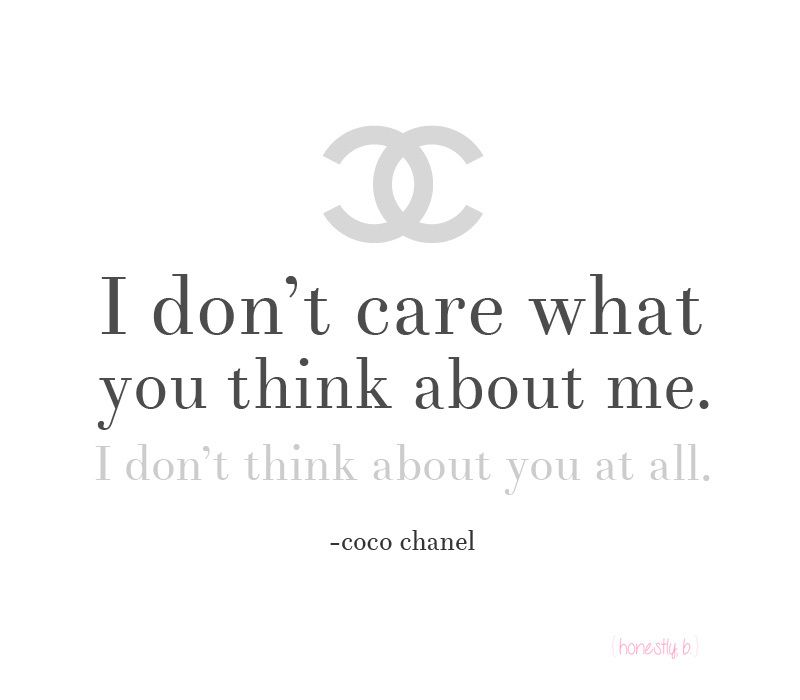 coco chanel quote Inspiring Words Pinterest Coco chanel
