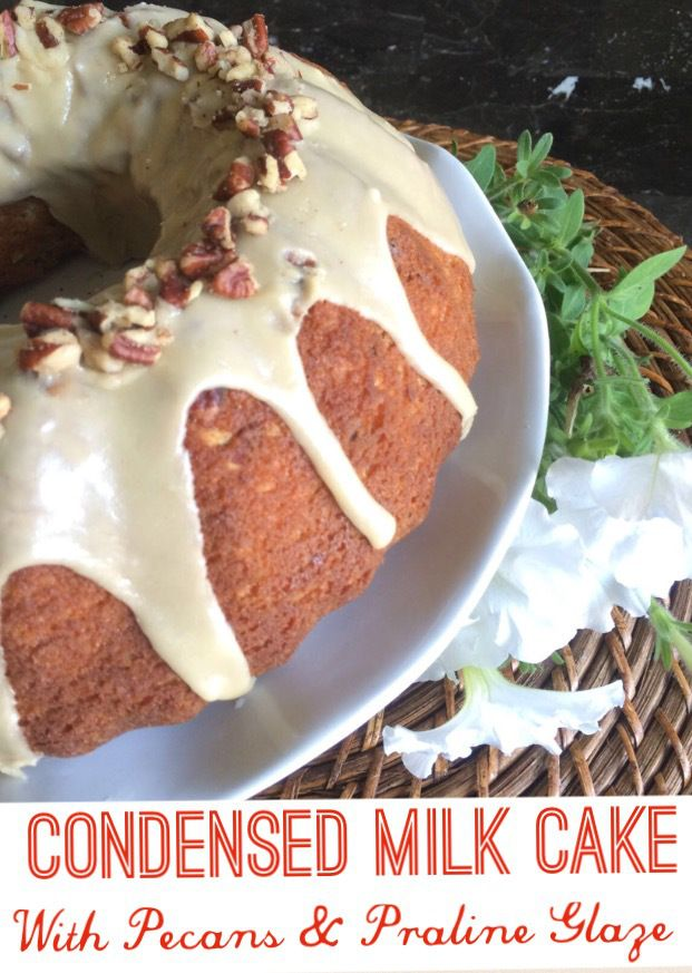 Condensed Milk Cake With Pecans Praline Glaze Condensed Milk Cake Praline Glaze Milk Cake