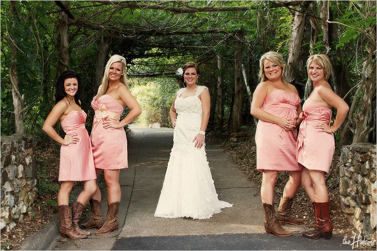 pink bridesmaid dresses with cowboy boots | Gommap Blog