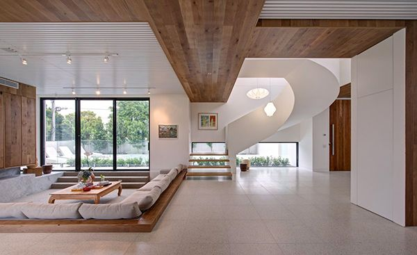 Innenausstattung Wohnzimmer ~ Moderne und warme villa innenausstattung living
