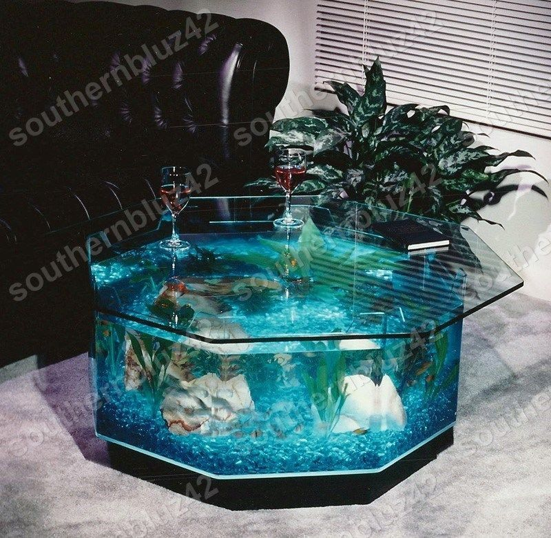 New octagon coffee table aquarium 40 gallon 38 complete for 38 gallon fish tank