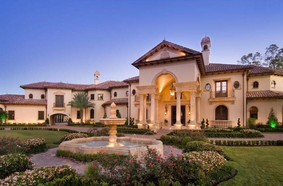 Stunning mediterranean mansion in houston tx built by for Luxury house builders