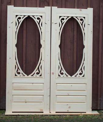 Vintage Wooden Screen Doors | wood screen door, wooden combination ...
